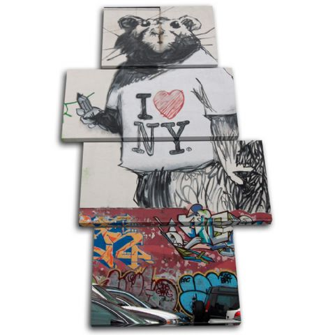 Rat I Heart NY Banksy Street - 13-1618(00B)-MP04-PO